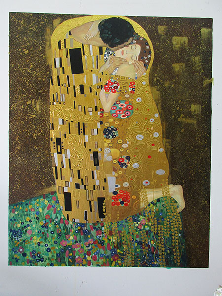 The Kiss Portrait Format - <a href='https://www.reproduction-gallery.com/oil-painting/1176155834/the-kiss-portrait-format-by-gustav-klimt/'>More Detail</a>