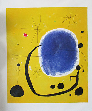 The Gold Of The Azure 1967 By Joan Miro - <a href='https://www.reproduction-gallery.com/oil-painting/1125139117/the-gold-of-the-azure-1967-by-joan-miro/'>More Detail</a>