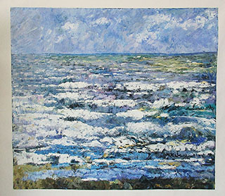 The Sea At Katwijk By Jan Toorop - <a href='https://www.reproduction-gallery.com/oil-painting/1561084167/the-sea-at-katwijk-by-jan-toorop/'>More Detail</a>