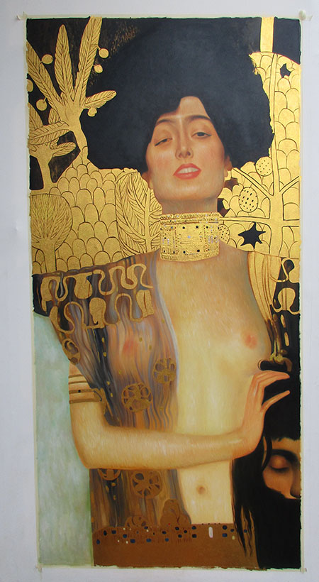 Judith II 1901 - <a href='https://www.reproduction-gallery.com/oil-painting/1455773800/judith-ii-1901-by-gustav-klimt/'>More Detail</a>