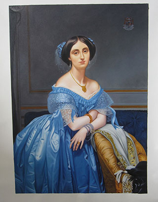Portrait Of The Princesse De Broglie By Jean Auguste Dominique Ingres - <a href='https://www.reproduction-gallery.com/oil-painting/1173762729/portrait-of-the-princesse-de-broglie-by-jean-auguste-dominique-ingres/'>More Detail</a>