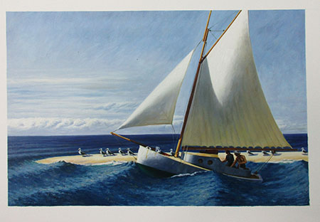 The Martha McKean of Wellfleet 1944 - <a href='https://www.reproduction-gallery.com/oil-painting/1099463770/the-martha-mckean-of-wellfleet-1944-by-edward-hopper/'>More Detail</a>
