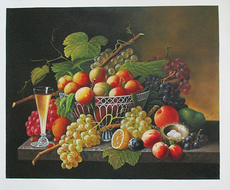 Still Life - <a href='https://www.reproduction-gallery.com/oil-painting/1445998447/still-life-by-severin-roesen/'>More Detail</a>