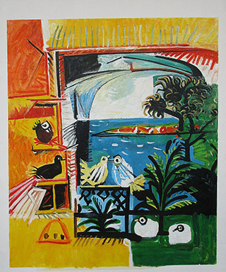 The Pigeons 1957 By Pablo Picasso - <a href='https://www.reproduction-gallery.com/oil-painting/1463033905/the-pigeons-1957-by-pablo-picasso/'>More Detail</a>