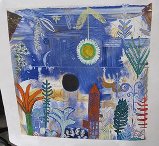 Versunkene Landschaft 1918 By Paul Klee - <a href='https://www.reproduction-gallery.com/oil-painting/1192661932/versunkene-landschaft-1918-by-paul-klee/'>More Detail</a>
