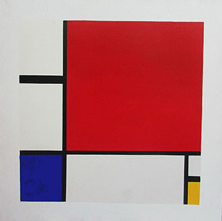 Composition Red Yellow Blue 1930 By Piet Mondrian - <a href='https://www.reproduction-gallery.com/oil-painting/1438899956/composition-red-yellow-blue-1930-by-piet-mondrian/'>More Detail</a>