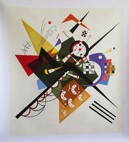 On White II 1923 - <a href='https://www.reproduction-gallery.com/oil-painting/1009608537/on-white-ii-1923-by-wassily-kandinsky/'>More Detail</a>