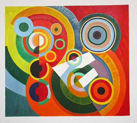 Rhythm Joie de Vivre 1930 - <a href='https://www.reproduction-gallery.com/oil-painting/1175050186/rhythm-joie-de-vivre-1930-by-robert-delaunay/'>More Detail</a>