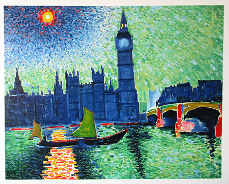 Big Ben London 1906 - <a href='https://www.reproduction-gallery.com/oil-painting/1177297235/big-ben-london-1906-by-andre-derain/'>More Detail</a>