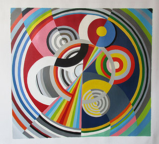 Rhythm No 1 1938 By Robert Delaunay - <a href='https://www.reproduction-gallery.com/oil-painting/1423464882/rhythm-no-1-1938-by-robert-delaunay/'>More Detail</a>