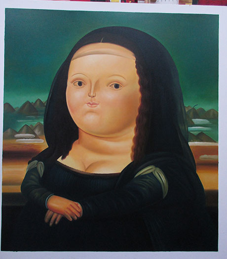 Mona Lisa - <a href='https://www.reproduction-gallery.com/oil-painting/1126142590/mona-lisa-by-fernando-botero/'>More Detail</a>