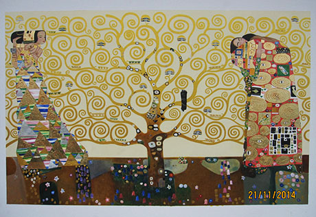 Stoclet Frieze - <a href='https://www.reproduction-gallery.com/oil-painting/1166571001/tree-of-life-stoclet-frieze-by-gustav-klimt/'>More Detail</a>