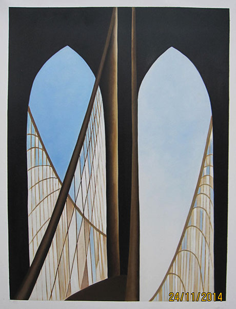 Brooklyn Bridge 1949 - <a href='https://www.reproduction-gallery.com/artist/georgia-o-keeffe/?page=1&perpage=All'>More Detail</a>