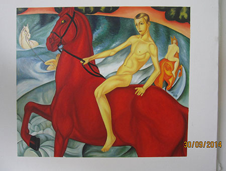 Bathing of a Red Horse - <a href='https://www.reproduction-gallery.com/search-paintings/?form_redirect=&form_id=form_search2&keywords=red+horse'>More Detail</a>
