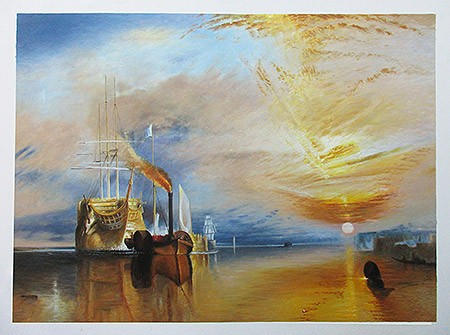 The Fighting Temeraire 1838 - <a href='https://www.reproduction-gallery.com/oil-painting/1173410539/the-fighting-temeraire-1838-by-joseph-mallord-william-turner/'>More Detail</a>