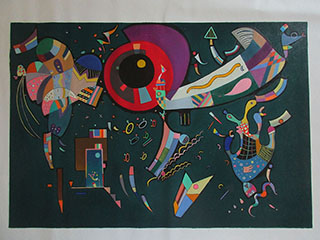 Around The Circle 1940 By Wassily Kandinsky - <a href='https://www.reproduction-gallery.com/oil-painting/1117273923/around-the-circle-1940-by-wassily-kandinsky/'>More Detail</a>