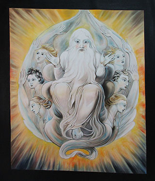 God Blessing The Seventh Day By William Blake - <a href='https://www.reproduction-gallery.com/oil-painting/1559720442/god-blessing-the-seventh-day-by-william-blake/'>More Detail</a>